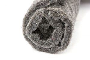 A felt fabric roll on a white background
