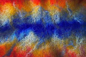 Multicolored Nuno felt
