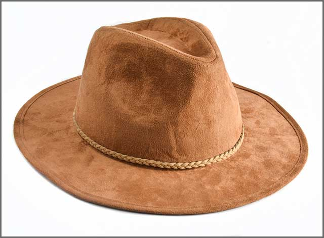 Brown beaver felt hat
