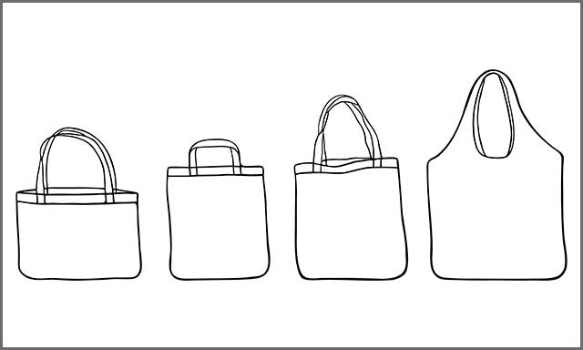 Different bag sketches